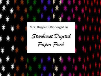 Starburst Digital Paper Pack