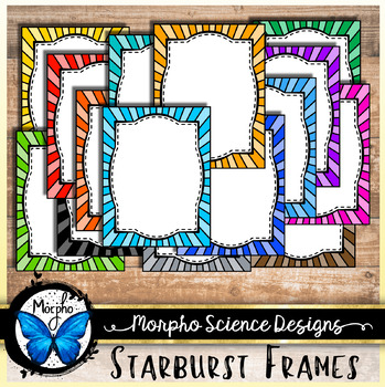 Starburst Frames - Great For Product Frames or Task Cards - Commercial Use