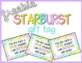 Starburst Gift Tag Freebie