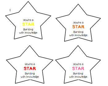 Starburst Gift Tag / Test Treat / Student Gift / Candy