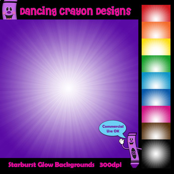 Backgrounds with Starburst Glow Effect   Digital Papers