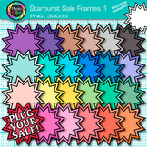 Starburst Sale Frame Clip Art {Rainbow Labels for Worksheets} 1