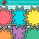 Starburst Sale Frame Clip Art {Rainbow Labels for Workshee