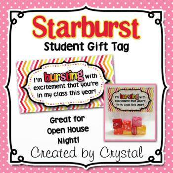 Starburst Student Gift Tag