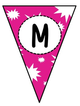 Starburst Subject Pennant Banners