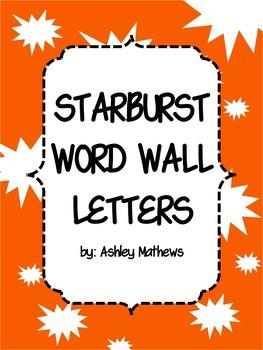 Starburst Word Wall Letter Pennants
