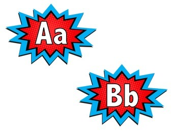 Starburst Word Wall Letters/ Alphabet Cards