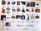 Starfall ABC song vocabulary sheet