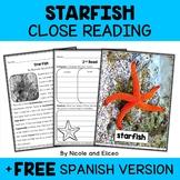 Close Reading Passage - Starfish Activities