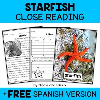 Starfish Close Reading Passage Activities