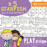 Starfish 5s Multiplication Worksheet Games