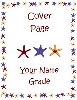 Starfish Beach Theme Collection (Cover Sheets and Sticker Charts)