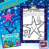 Starfish Breathing Freebie Worksheet (School Counseling)