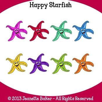Starfish Clip Art by Jeanette Baker