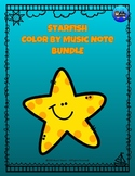 Starfish Color By Music Note Rhythm Coloring BUNDLE