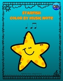 Starfish Color By Music Note Rhythm Coloring - Quarter Note, Eighth Notes