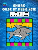Shark Color By Music Note Rhythm Coloring