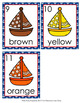 Sailboat Nautical Colors Write the Room Activity