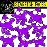 Starfish Faces: Summer Clipart {Creative Clips Clipart}