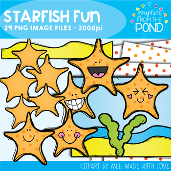Starfish Fun Clipart Set