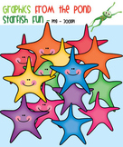 Starfish Fun - Clipart for Teachers and Classrooms