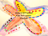 Starfish Fun Facts Lesson and Art Project K-5th Grade Self Esteem Character ELA