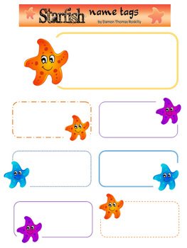 Starfish Name Tags