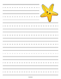 Starfish Primary Lined Paper