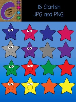 Starfish Star Clip Art 16Colors Images