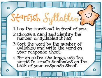 Starfish Syllables