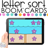 Starfish Theme Letter Sort Boom™ Cards - Distance Learning