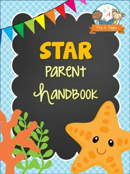 Starfish Theme Parent Handbook Back-to-School {personalize it}