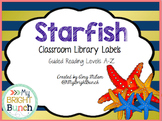 Starfish Themed Classroom Library Book Bin Labels