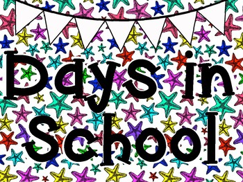 Starfish Themed Days in School Board Sticker Chart