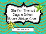 Starfish Themed Days in School Board Sticker Chart