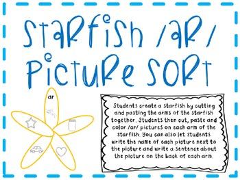 Starfish /ar/ Picture Sort