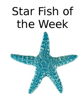 Starfish of the Week Book Cover