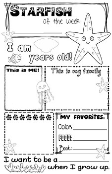 Starfish of the Week Poster