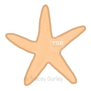 Starfish- starfish clip art, beach art, starfish Printable