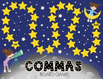 Stargazing Commas Board Game