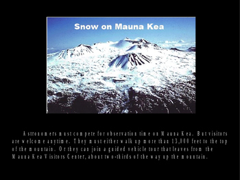 Stargazing in Hawaii PowerPoint