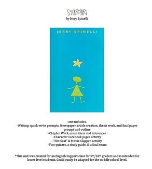 Stargirl by Jerry Spinelli- Unit Plan