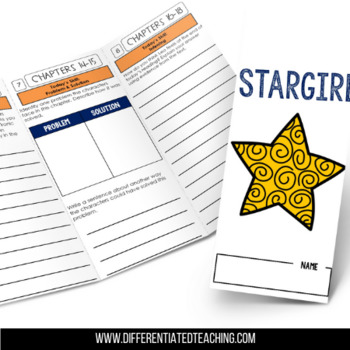 Stargirl Foldable Novel Study Unit