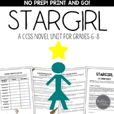 Stargirl: A Print and Go Novel Study Unit for Middle School