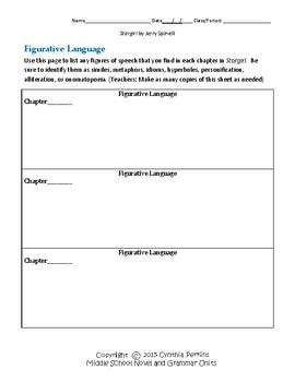 Stargirl Complete Literature and Grammar Unit