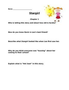 Stargirl Comprehension Questions