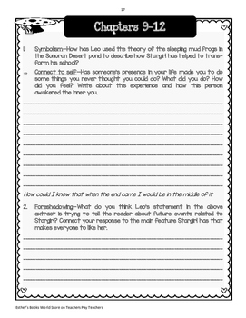 Stargirl - Comprehension and Vocabulary Novel Unit
