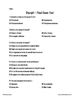 Stargirl Final Exam Test