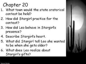 Stargirl {Novel Questions on PowerPoint Presentation}