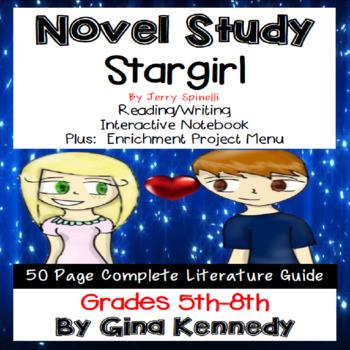 Stargirl Novel Study & Enrichment Project Menu